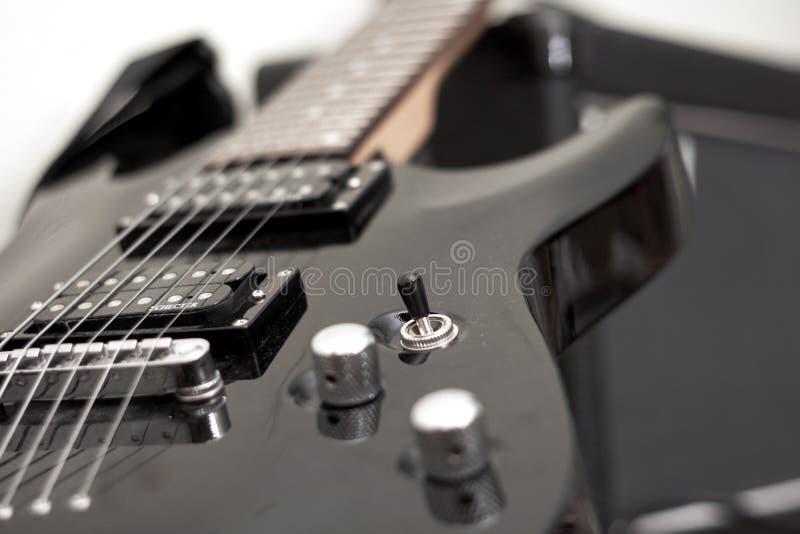 Guitarra eléctrica, instrumento musical fotos de archivo libres de regalías