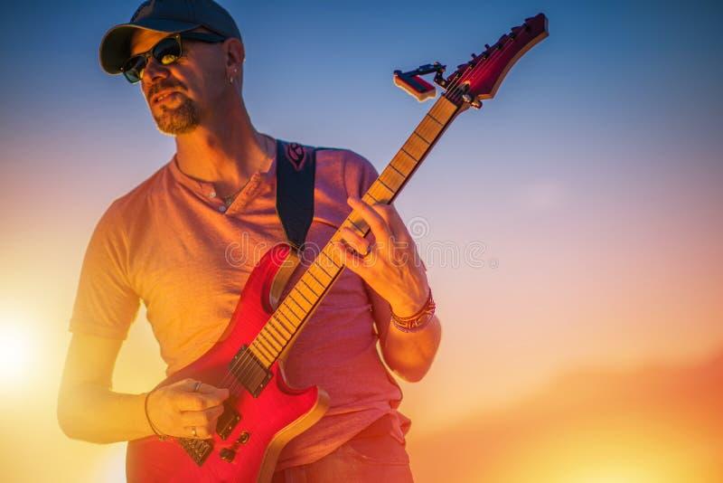 Guitarra eléctrica Rockman imagen de archivo libre de regalías