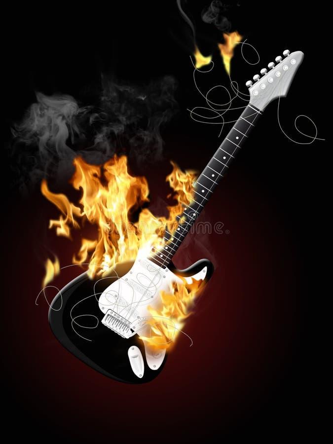 Guitarra elétrica 3 ilustração do vetor