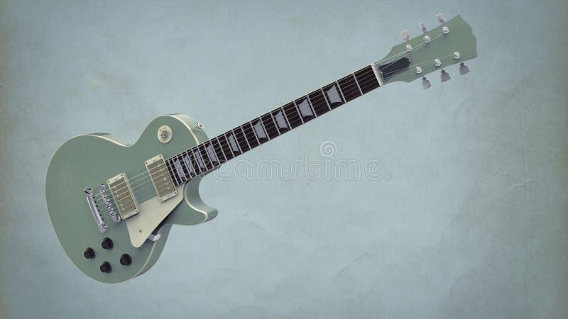 Guitarra elétrica ilustração royalty free