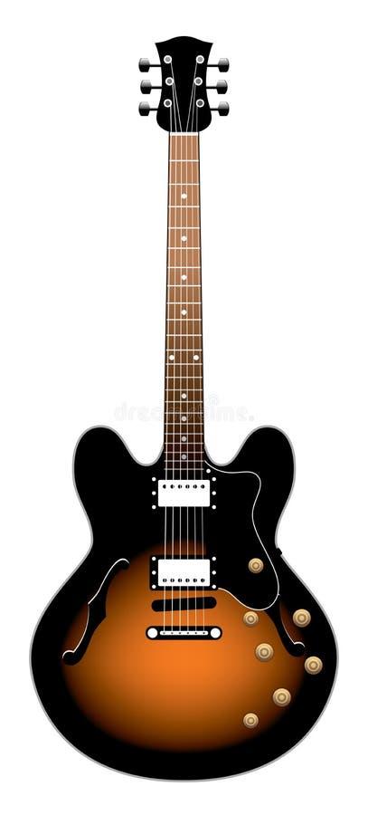 Guitarra elétrica ilustração stock