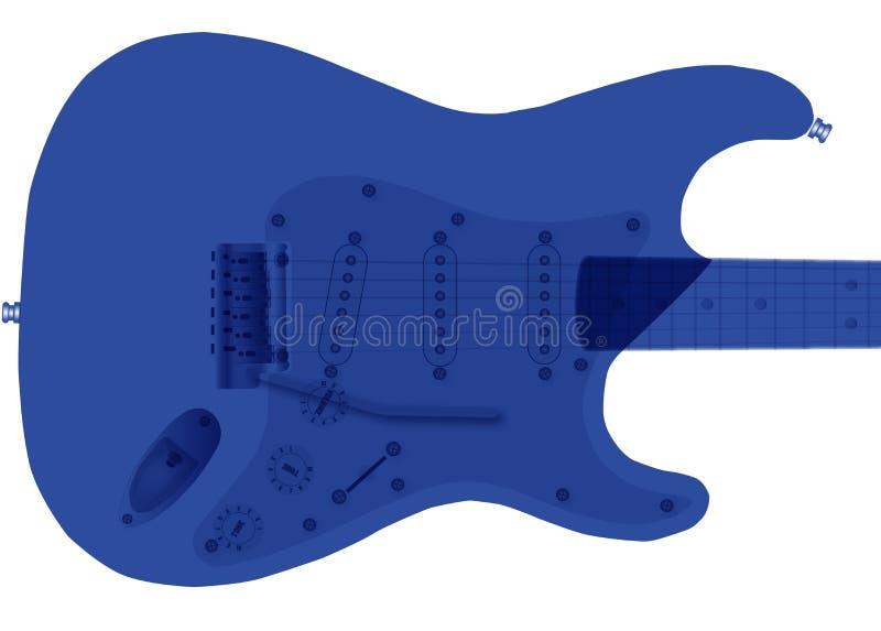 Guitarra elétrica azul de Duotone ilustração do vetor