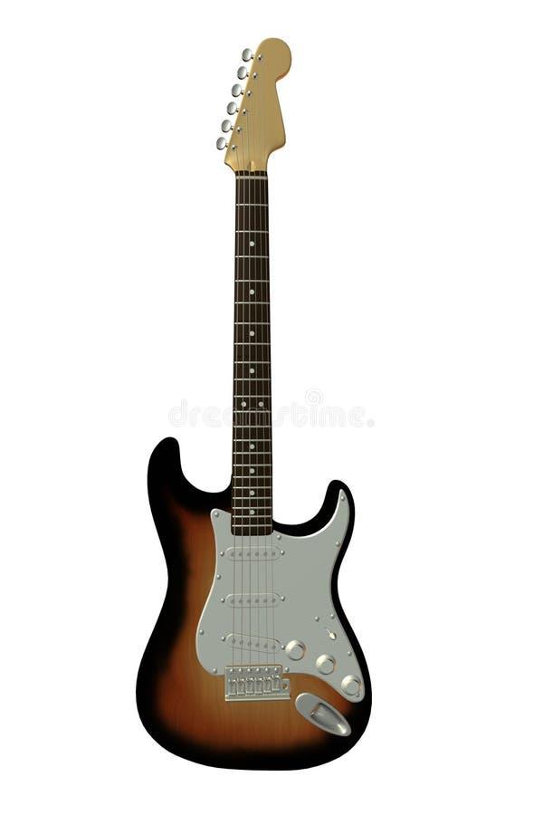 Guitarra elétrica clássica 1 ilustração stock