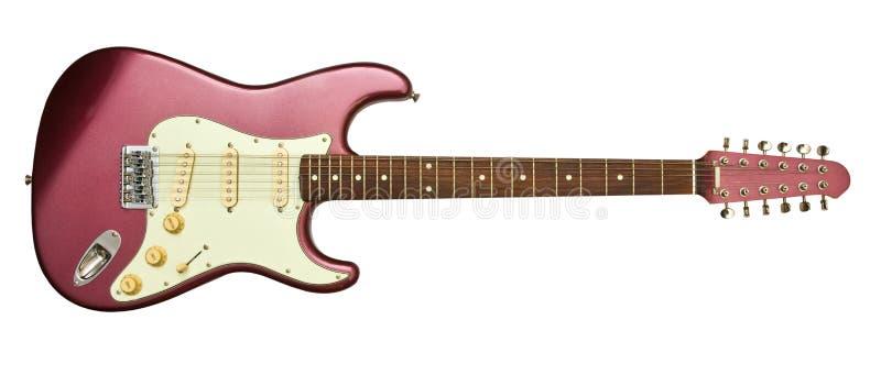 Guitarra elétrica com doze cordas imagem de stock royalty free