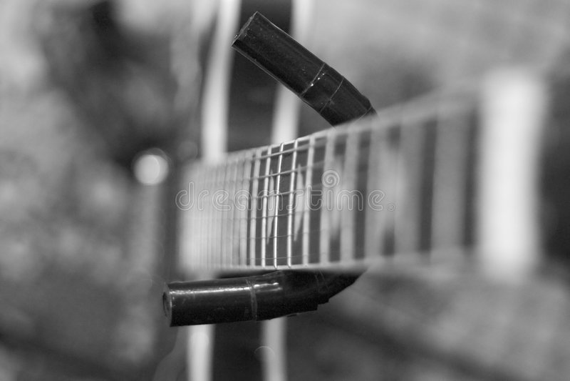 Guitarra elétrica de B/W foto de stock