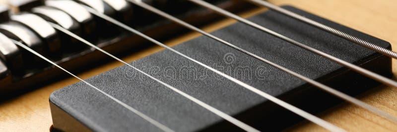 Guitarra elétrica de madeira da forma clássica com pescoço do jacarandá imagem de stock royalty free