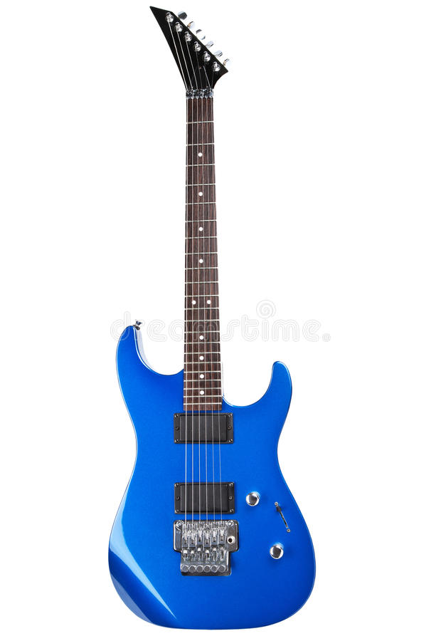 Guitarra elétrica isolada fotografia de stock