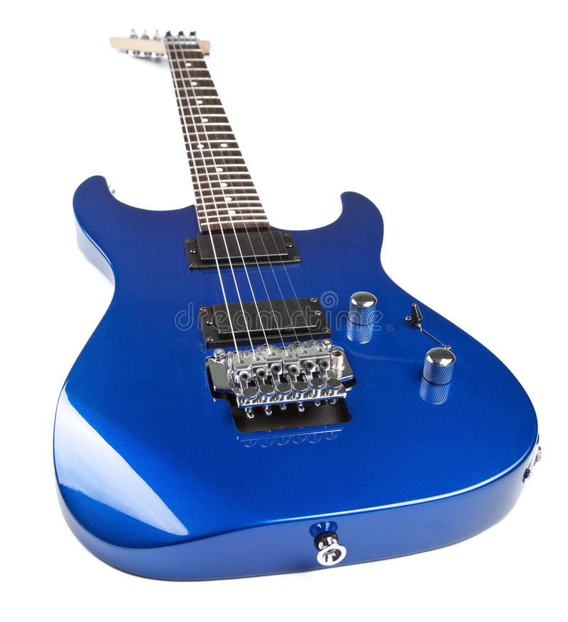 A guitarra elétrica isolou-se fotografia de stock royalty free