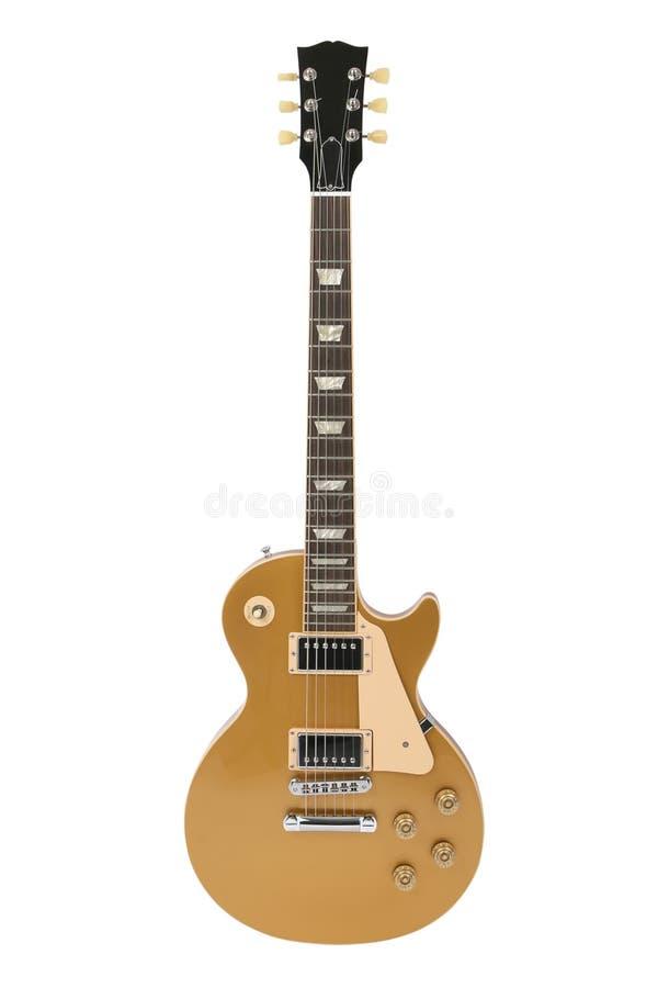 Guitarra elétrica (parte superior do ouro de Gibson Les Paul) fotografia de stock