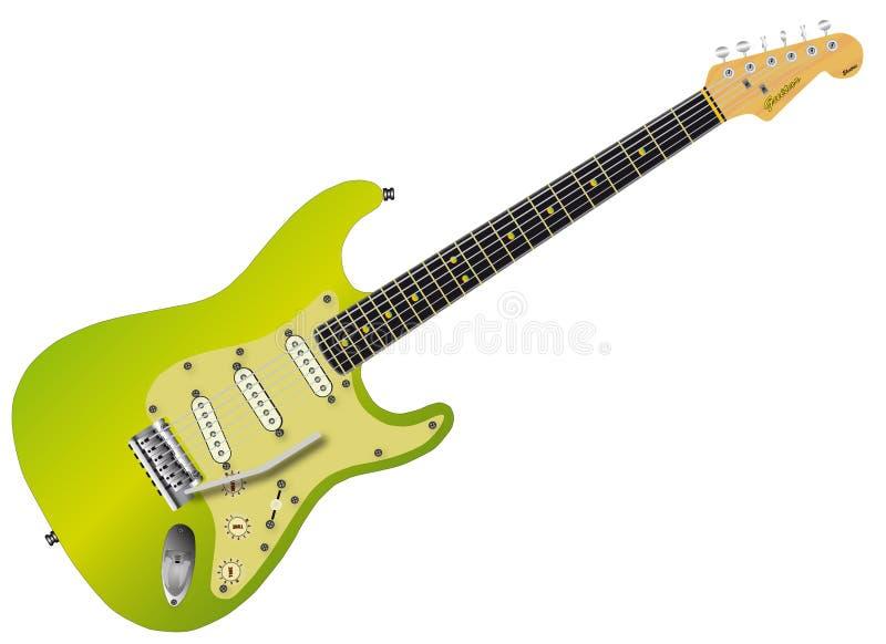 Guitarra elétrica verde ilustração royalty free