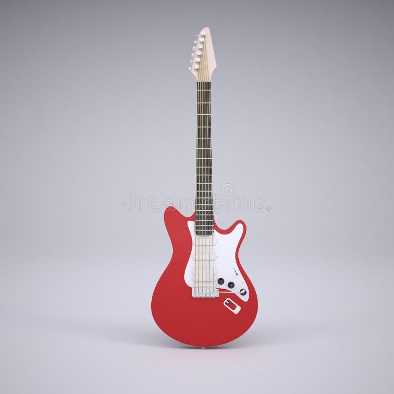 Guitarra elétrica vermelha ilustração royalty free