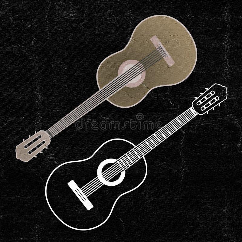 Guitarra espanhola clássica ilustração do vetor