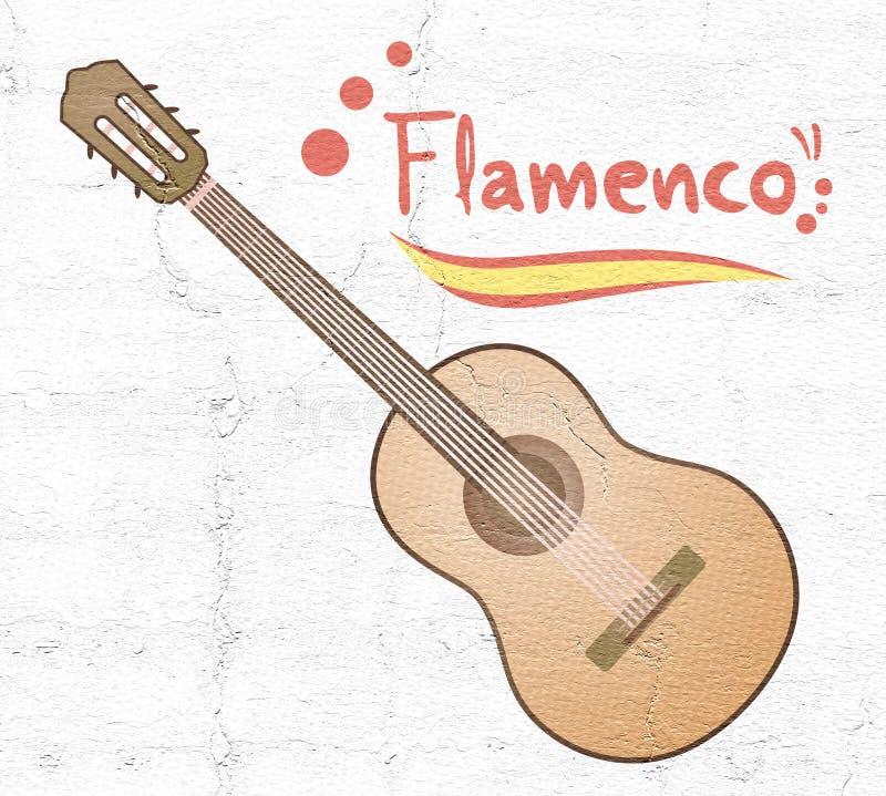 Guitarra espanhola clássica ilustração royalty free