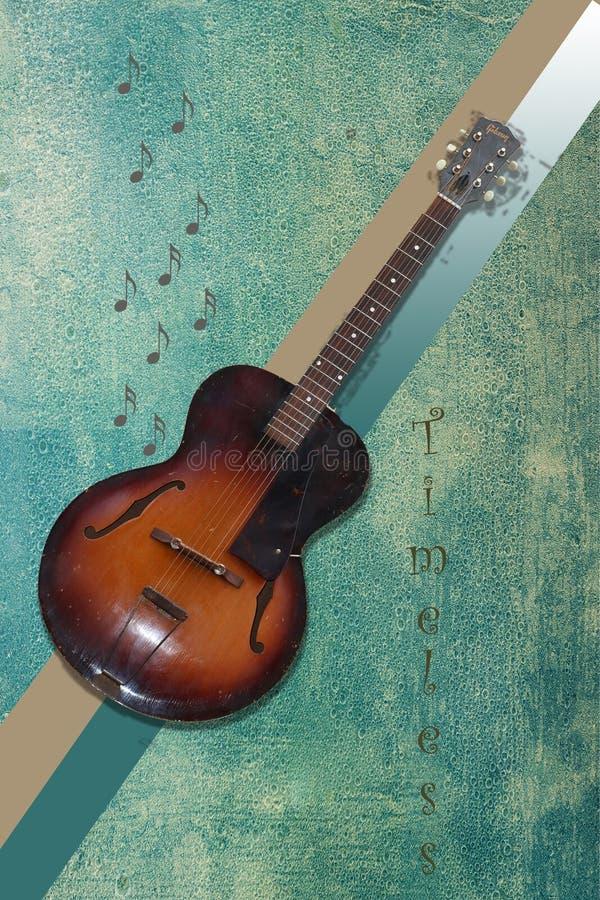 Guitarra intemporal fotografia de stock royalty free