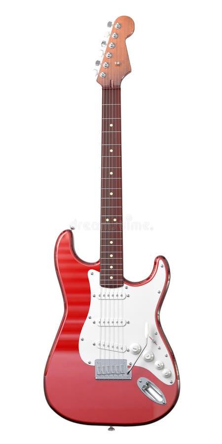 Guitarra isolada no branco ilustração stock
