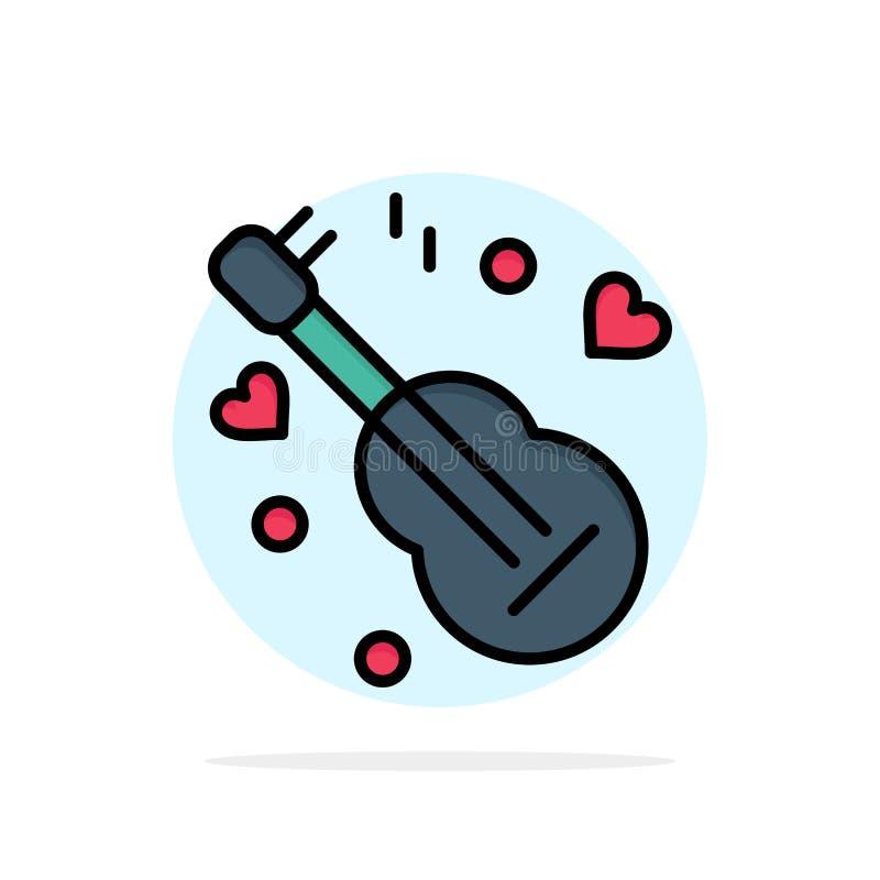 Guitarra, música, música, do fundo abstrato do círculo do amor ícone liso da cor ilustração royalty free