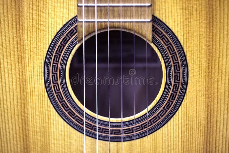 Guitarra, opinião dianteira do close-up foto de stock royalty free