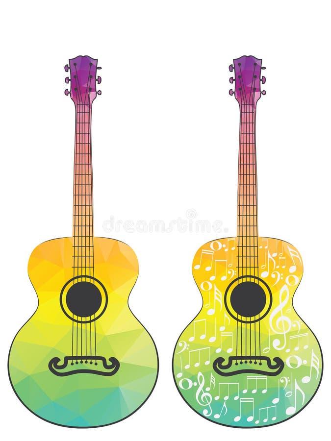 Guitarra poligonal ilustración del vector