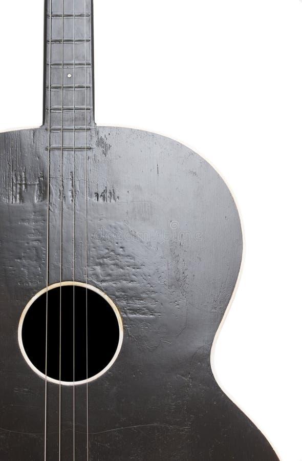 Guitarra popular vieja fotografía de archivo