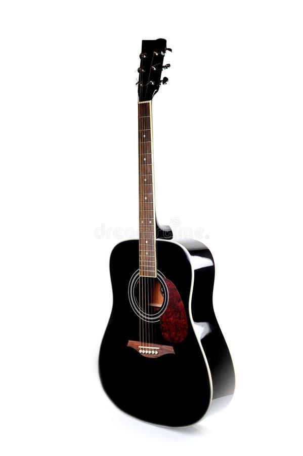 Guitarra preta do guitarblack do guitarblack imagens de stock royalty free
