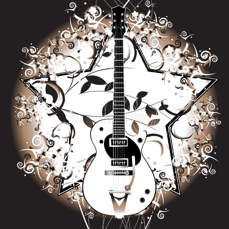 Guitarra retro ilustração do vetor