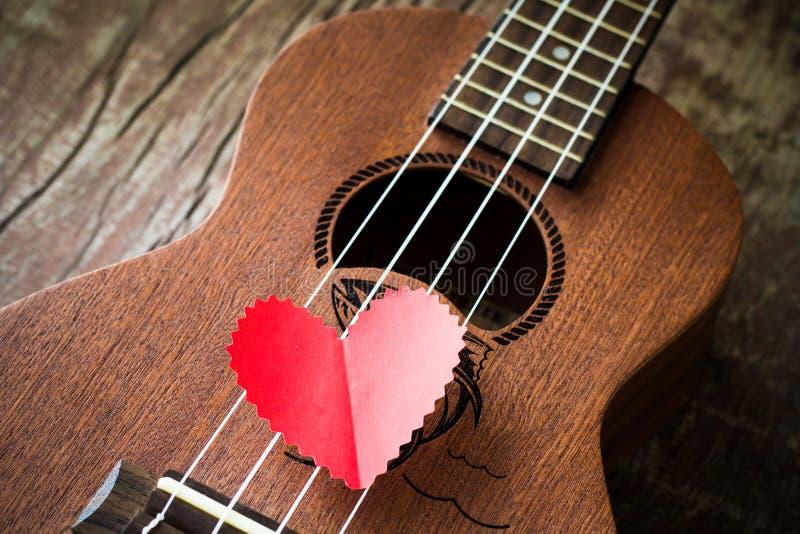 A guitarra retro para o amante fotografia de stock royalty free