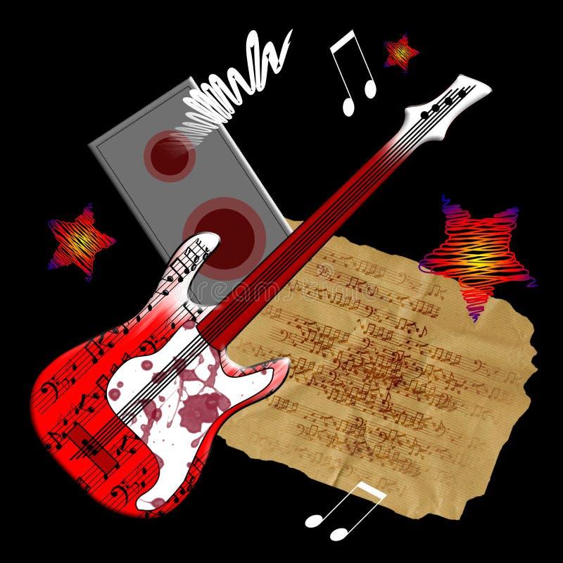 Guitarra roja fotografía de archivo libre de regalías