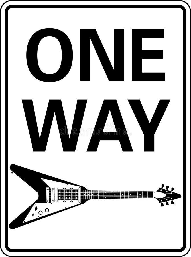 Guitarra unidireccional stock de ilustración