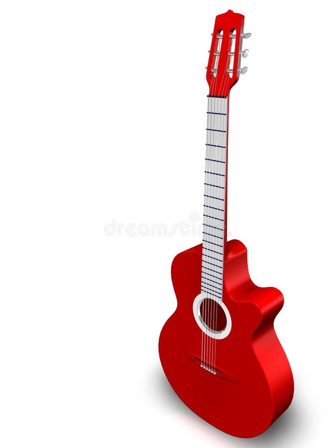 Guitarra vermelha ilustração stock