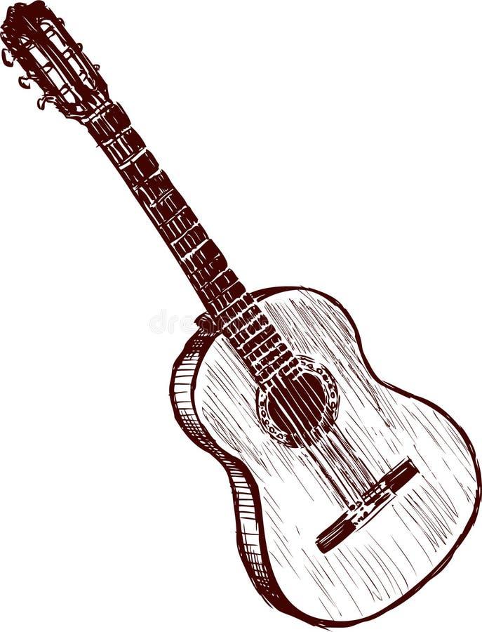 guitarra vieja libre illustration