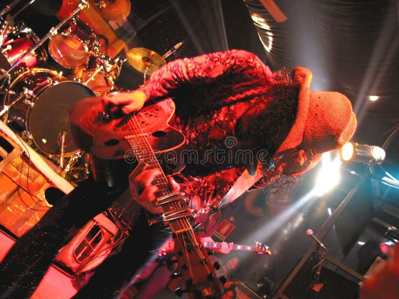 Guitarra viva mim fotografia de stock