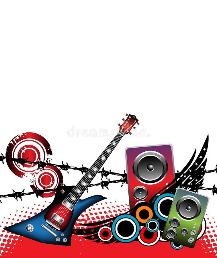 Guitarra y altavoces libre illustration