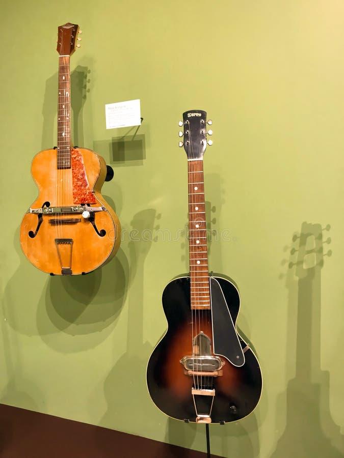 Guitarras Elétricas Vintage Mose Supro fotos de stock royalty free