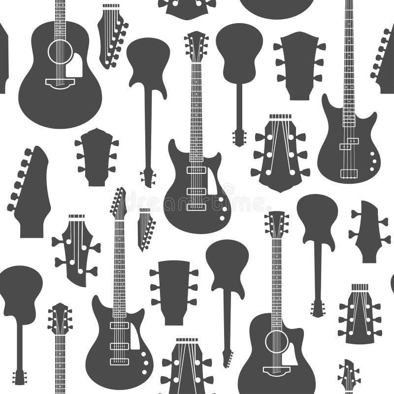Guitarras modelo o fondo inconsútil del vector libre illustration