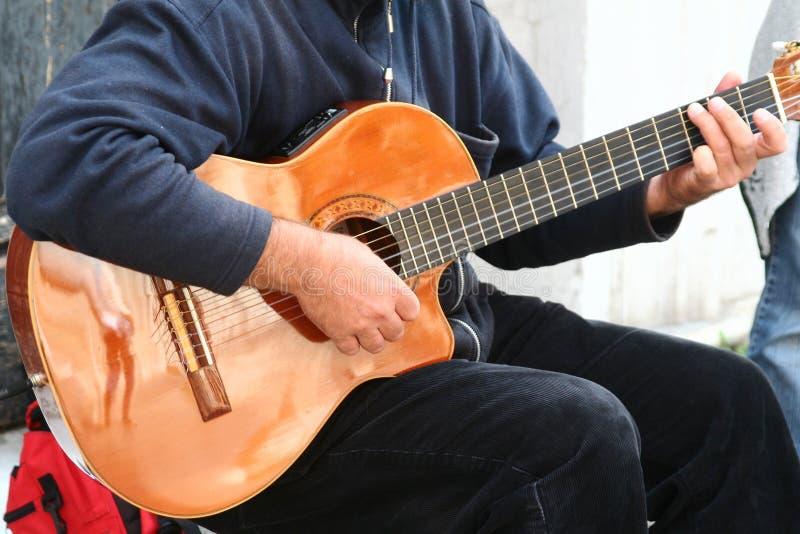 Download Guitarrista foto de archivo. Imagen de venecia, azul, etapa - 1277564