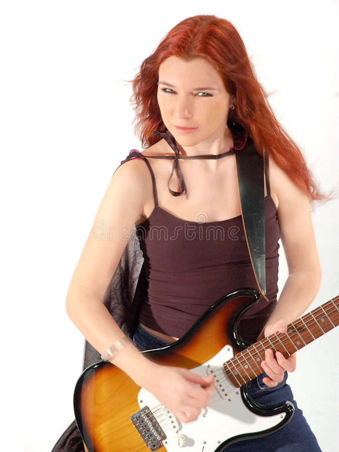 Guitarrista 3 del Redhead foto de archivo libre de regalías