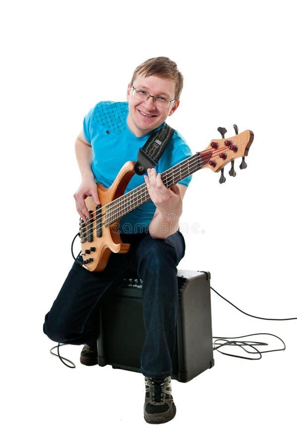 Guitarrista com electro guitarra fotos de stock royalty free
