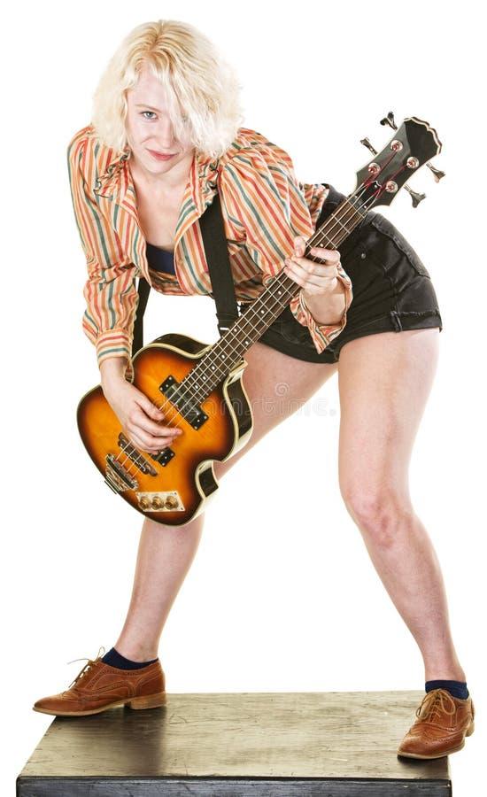 Guitarrista da dança fotografia de stock