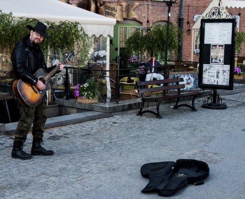 Guitarrista da rua fotografia de stock