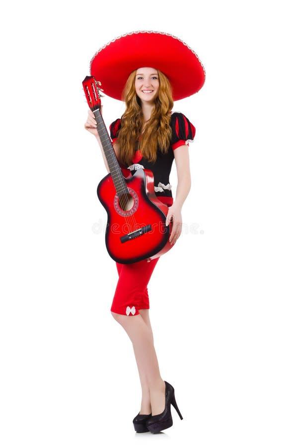 Download Guitarrista De La Mujer Con El Sombrero Imagen de archivo - Imagen de humor, hospitalidad: 41914133