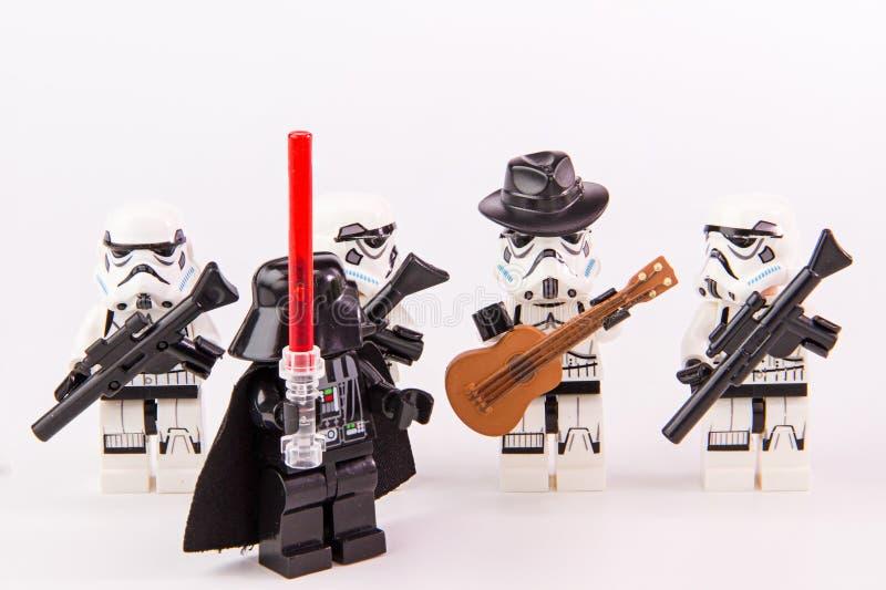 Guitarrista de las Guerras de las Galaxias de Lego imagen de archivo