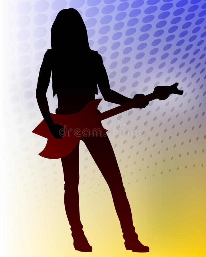 Guitarrista Do Metal Pesado Do Vetor Fotografia de Stock Royalty Free