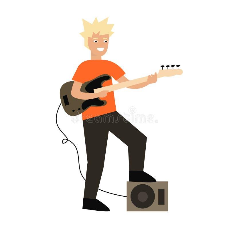 Guitarrista dos desenhos animados Vetor ilustração royalty free