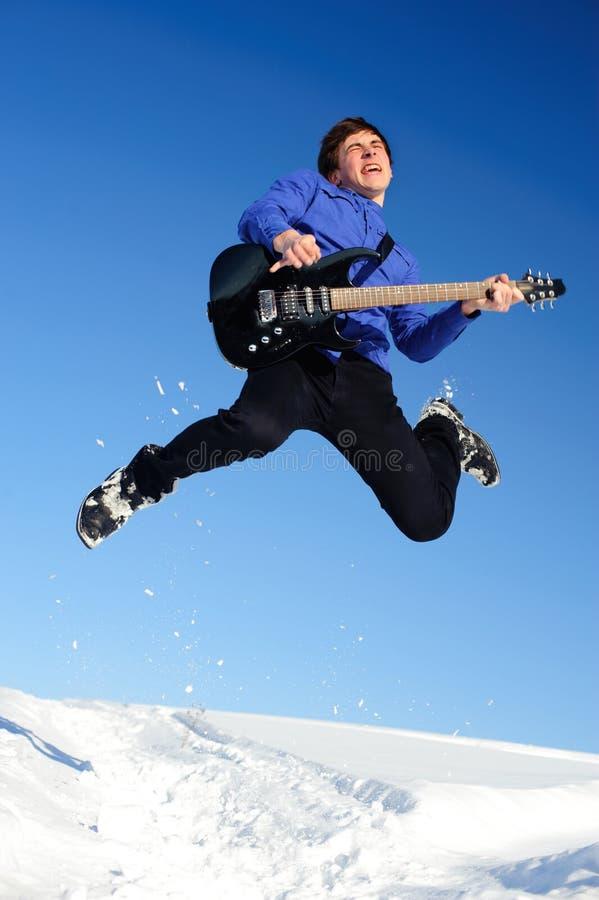 Guitarrista emocional fotos de stock