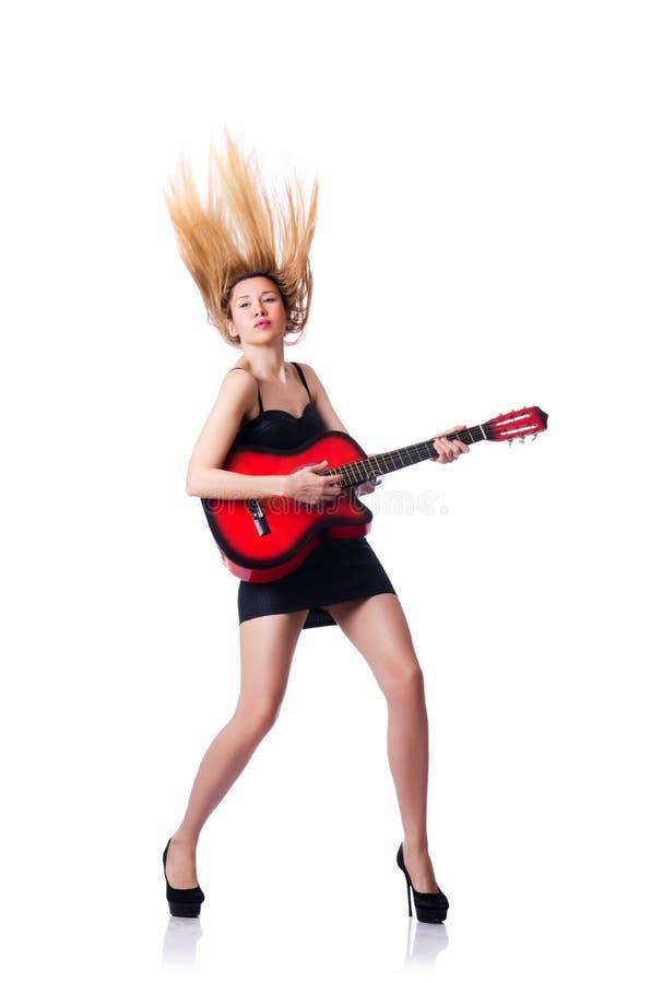 Guitarrista Femenino Fotografía de archivo
