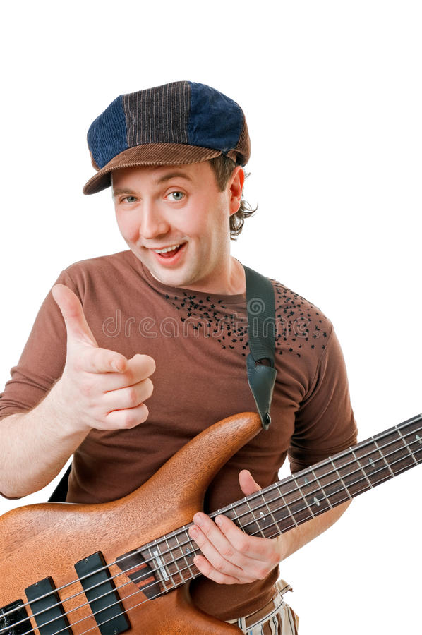 Guitarrista fresco fotografia de stock