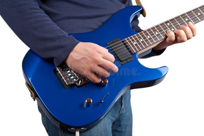 Guitarrista isolado fotos de stock royalty free