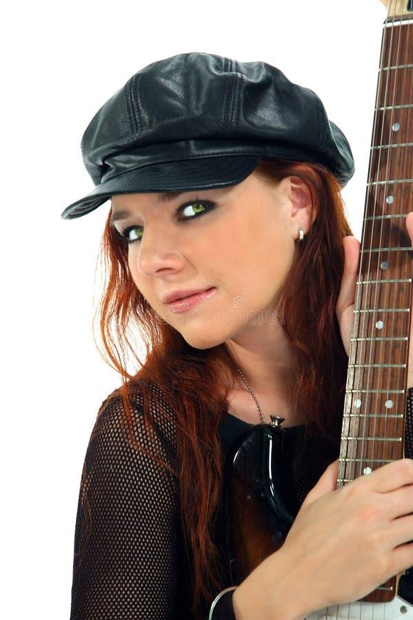 Guitarrista Lindo 2 Imagem de Stock Royalty Free
