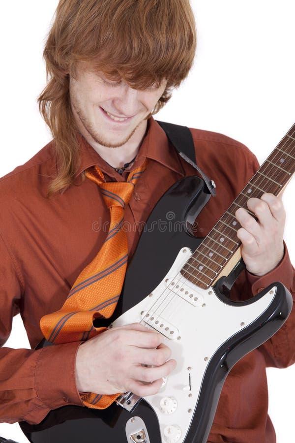 Guitarrista masculino fotografía de archivo