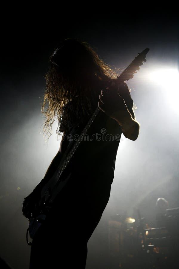 Guitarrista na ação 3 fotografia de stock royalty free